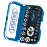 "Expert 1/4"" Square Drive 22 Piece Double Driver Socket and Bit Set"